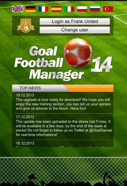 GOAL 2014 Football Manager